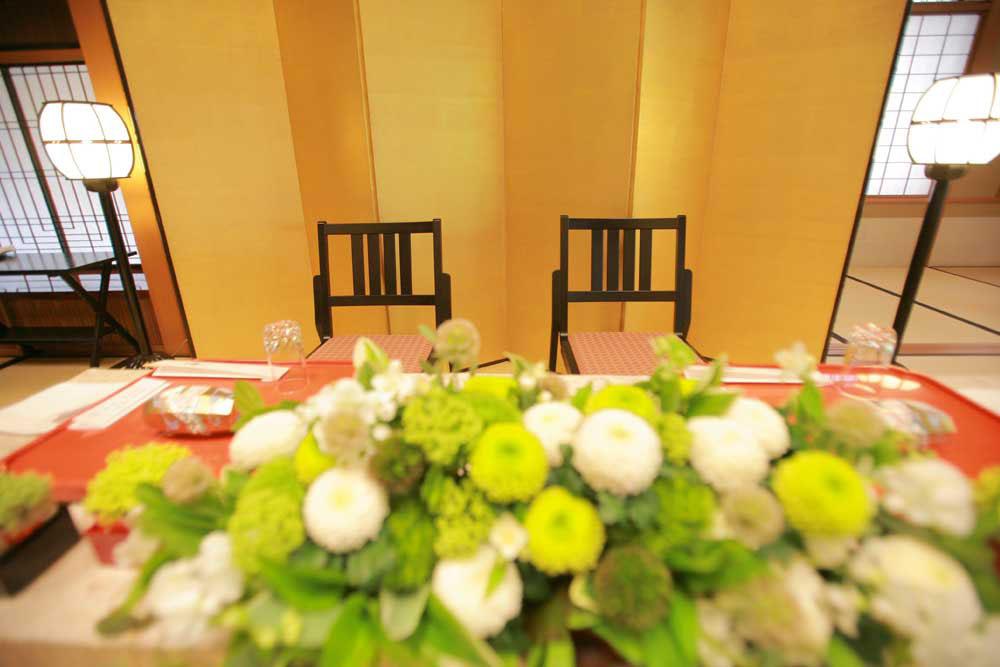 八勝館 広間 メインテーブル