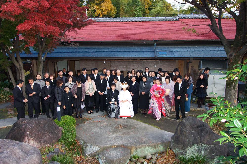 料亭結婚式 集合写真