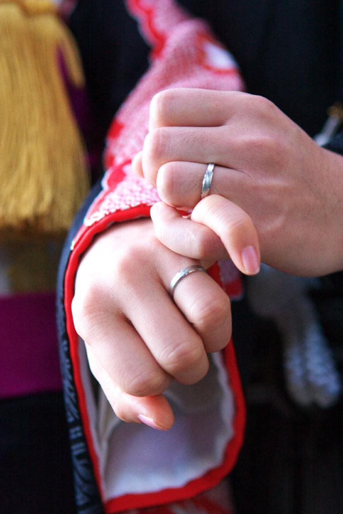 結婚式 指輪 和装