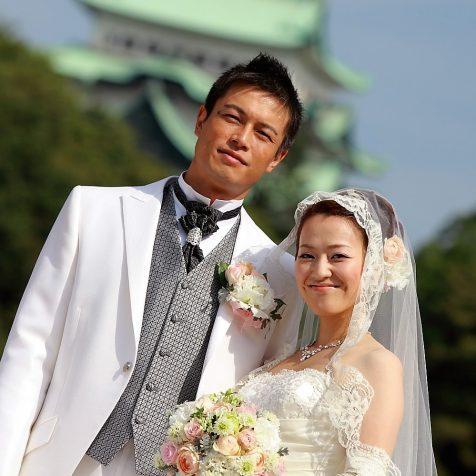 名古屋城 ロケ撮影 結婚