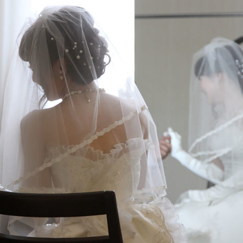 結婚式 披露宴 入場 ホテル婚 和婚 ウェディングドレス