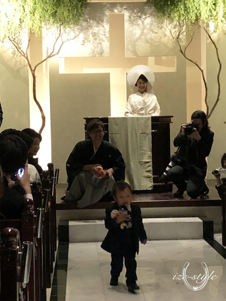 和ごころ結婚式いとむすび 和婚 結婚式 白無垢 和装 家族婚 リングボーイ